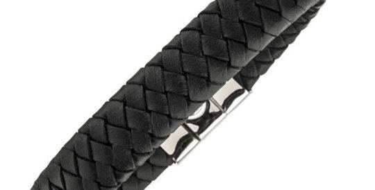 Magnetic Leather Bracelet, black