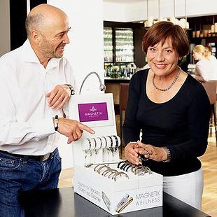 counter-top presenter, magnetic bracelets, Magnetix wellness