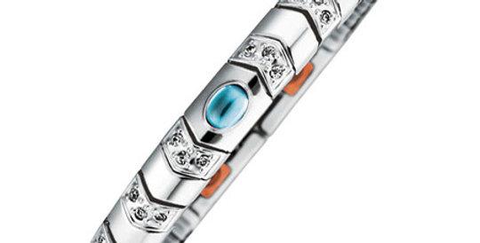 Flexi Magnetic Bracelet, light blue stone