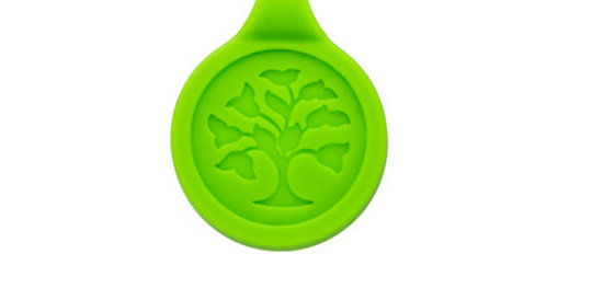 Silicone Magnetic Sport Pendant, green, SKU4428