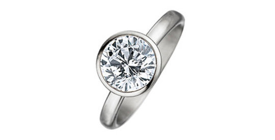 Magnetic Ring with big Zirconia cubic