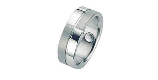 Mens Magnetic Ring Chequered