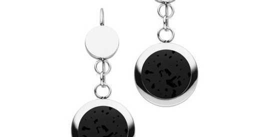 Magnetic Earrings Lava Stones