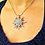Magnetic pendant Sun, on chest