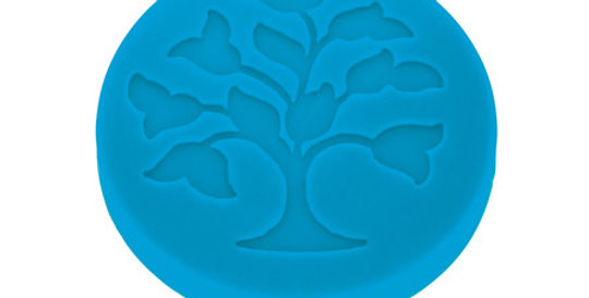 Silicone water magnet Tree of Life, blue