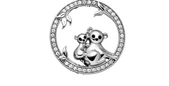 Magnetic Pendant Two Koalas