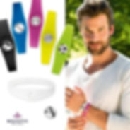 Handsome man wears magnetic sports Bracelets in Australia, Magnet therapy for Arthritis, sport injuries, pain relief, muscle pain