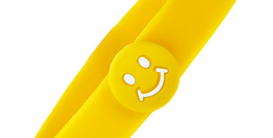 Kids Magnetic Bracelet Smiley with Negative Ions, yellow