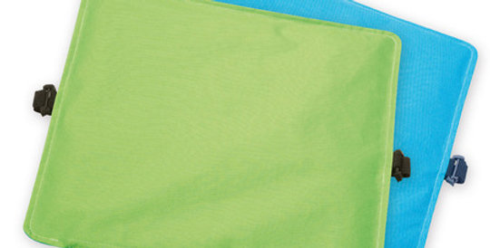 Reversible Magnetic Seat Cushion, green-blue