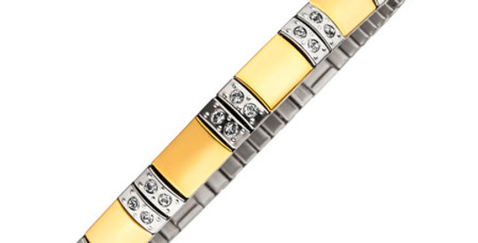 Flexi Magnetic Therapy Bracelet, gold plated, SKU 4549