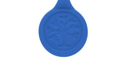 Silicone Magnetic Sport Pendant, blue