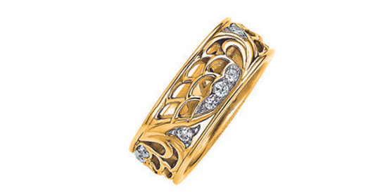 Magnetic Ring Angel, in gold