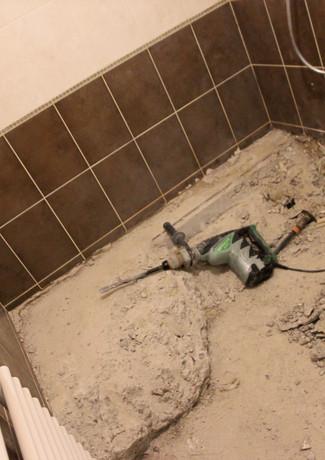 Salle de bains en rénovation