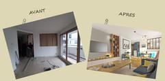 Rénovation d'appartement avant après
