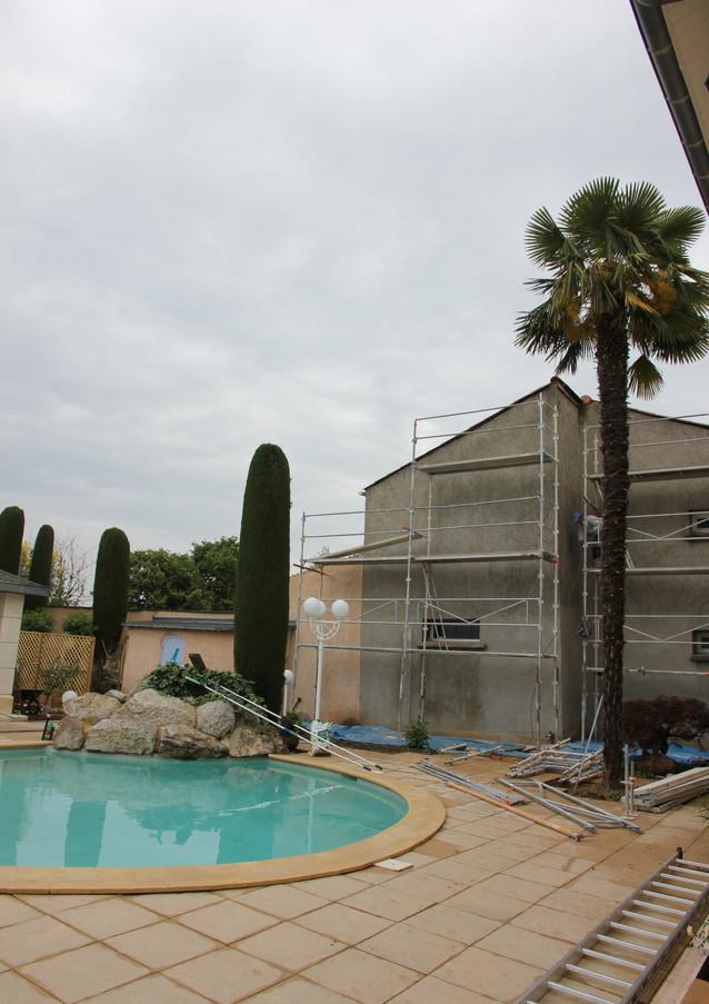 Réalisation d'enduit projeté, crépi de maison à Valence