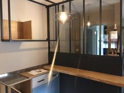 Rénovation d'intérieur avec une verrière sur mesure