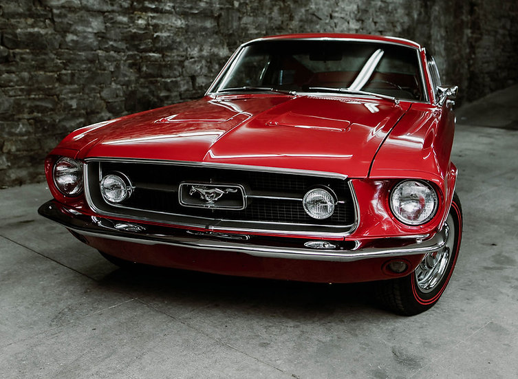 1967 Ford Mustang Fastback GT Badging