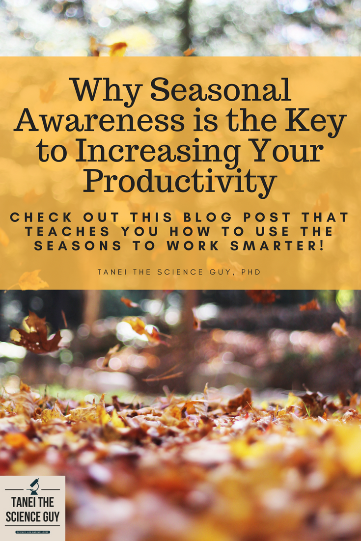 Check out this blog post that teaches you how to use the power of the seasons to work smarter!