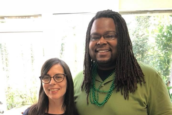 Myself pictured with Amazon.com best selling author Catherine Carrigan after a new moon manifestation kickoff. The universe is always right on time.