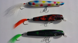 Group of thrre lures