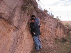 Camino Mochulo a Quiba Fm. Arenisca de Labor
