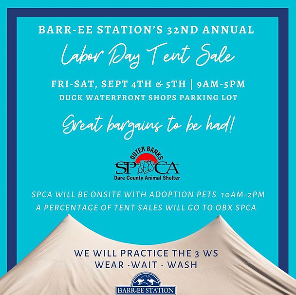 Barree Station labor day wkend tent sale
