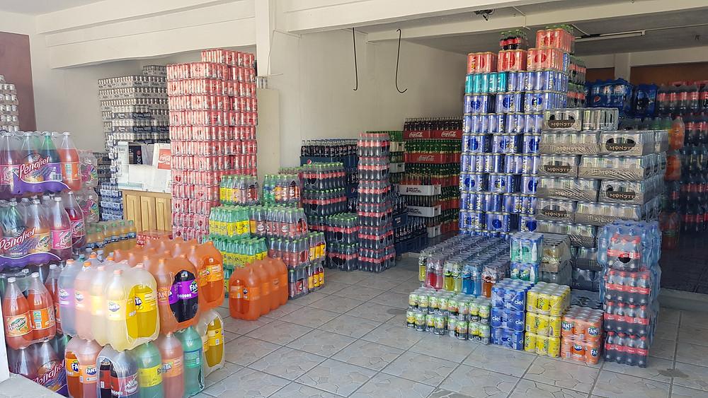 La réserve d'un magasin, à San Juan Chamula.