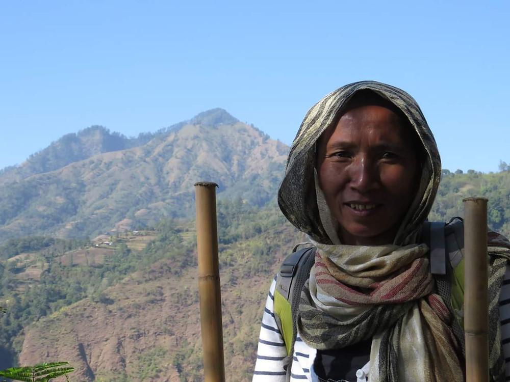 Une habitante de Montigunung, dans les montagnes. Crédit : Future for children