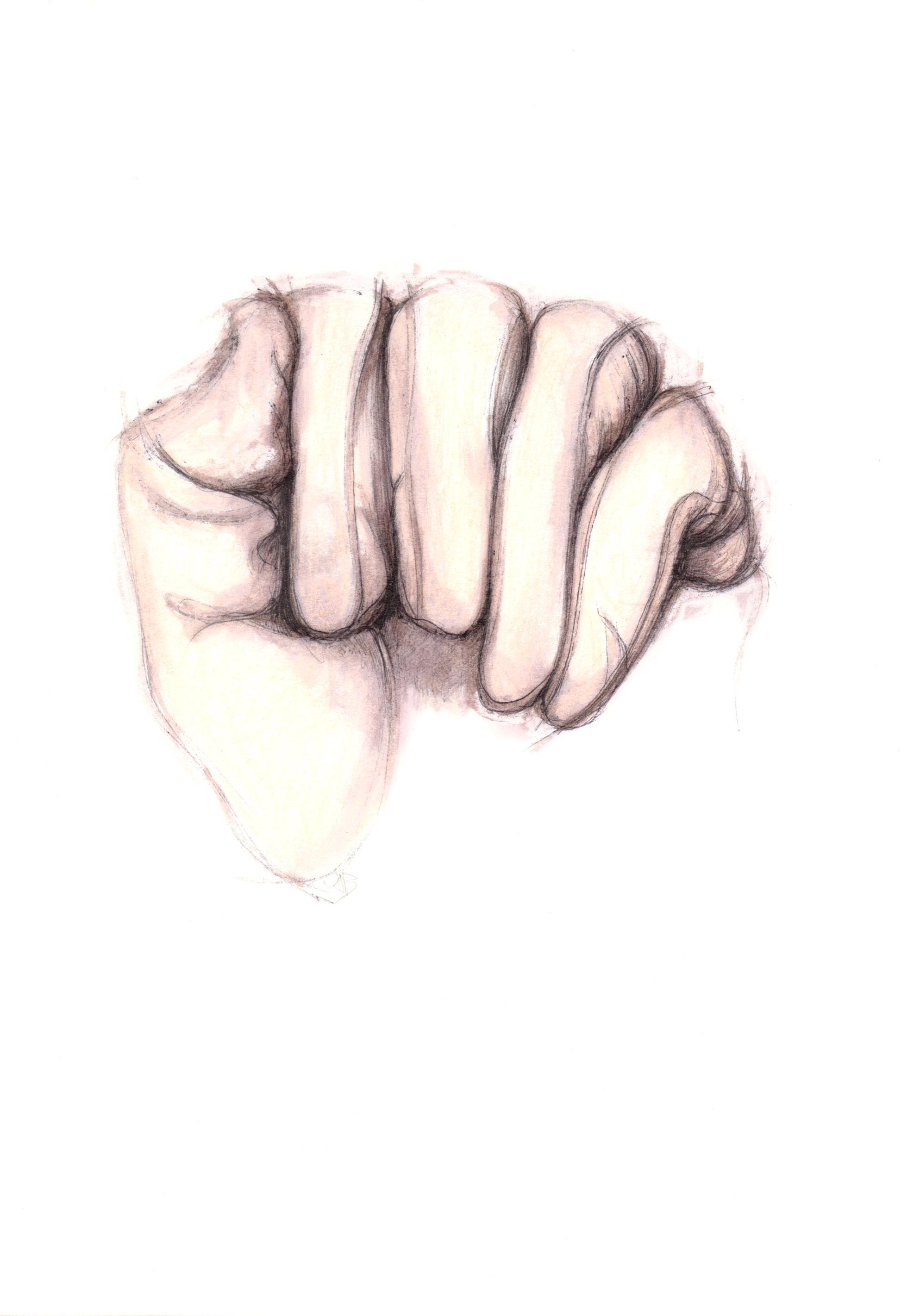 clasped glove 2