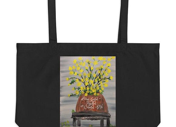 Large organic tote bag~ Original Designed by PatriciaHoustonPaintings.com