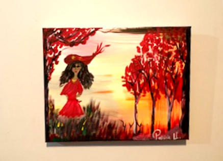 """Moody Lady No.1 -  Size 14"""" by 11""""H"""