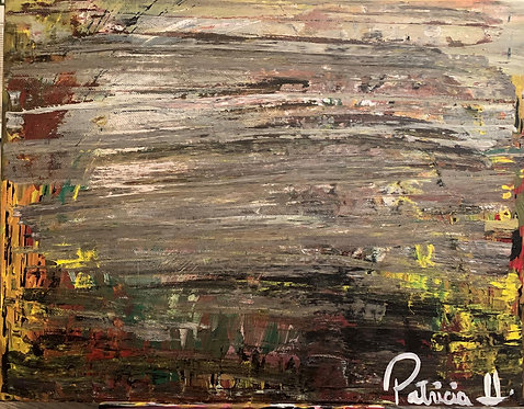 """This is Gray Rustic painting - original acrylic on canvas size 14""""W X 11""""H"""