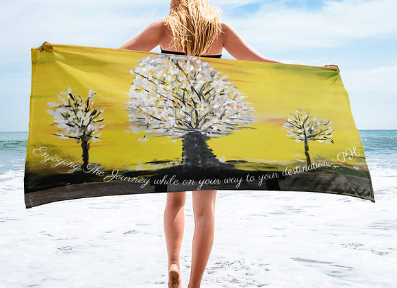 Towel- Design by Patricia Houston Paintings with a Motivational Insight