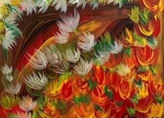 """Florencia"" No.5 Original Artwork Acrylic on Canvas size 10""W x 8""H"