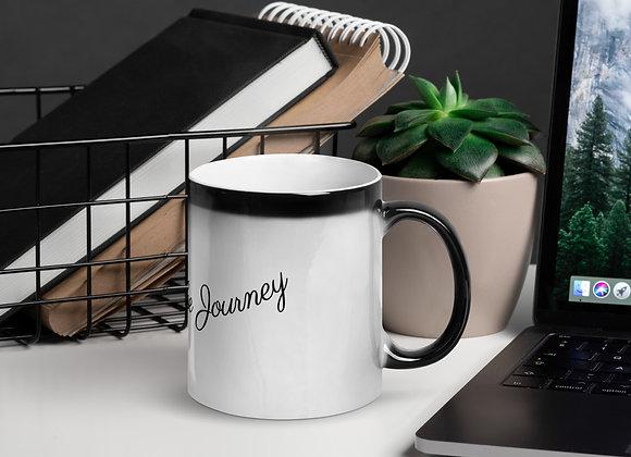Glossy Magic Mug With  Motivational Insight - Enjoying the Journey