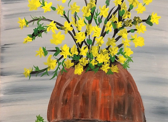 """Yellow By The Window - Original Painting Size 20""""H by 17"""" W by .o7"""
