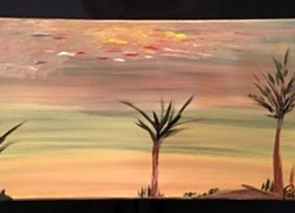 Amaneciendo- is an Original Abstract Painting on a Classic Canvas