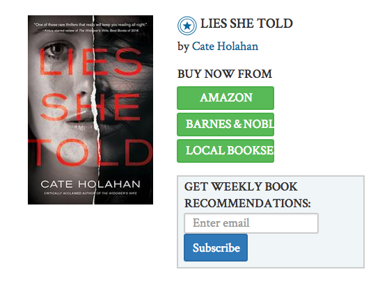 Kirkus Starred Review, Lies She Told