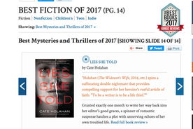 Lies She Told Named To Kirkus' Best Books of 2017