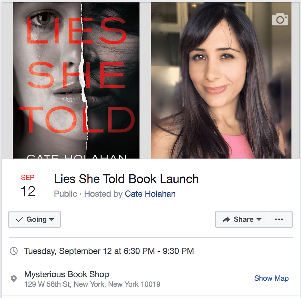 Lies She Told Book Launch