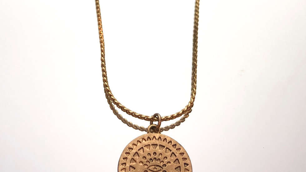 Protective Eye Coin Necklace