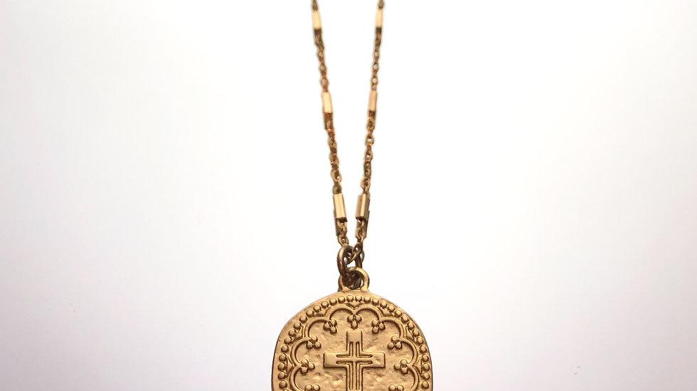 Cros Coin Necklace