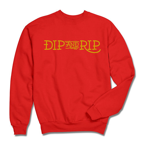 TAT LETTERS RED/YELLOW CREW NECK