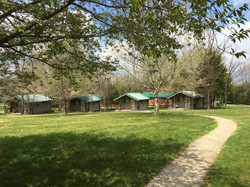 Cabins, each with private porch