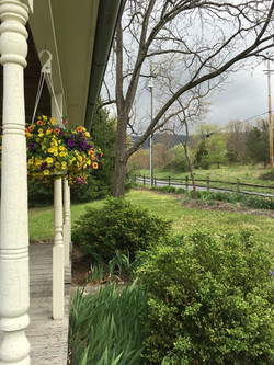 Front porch of the retreat center