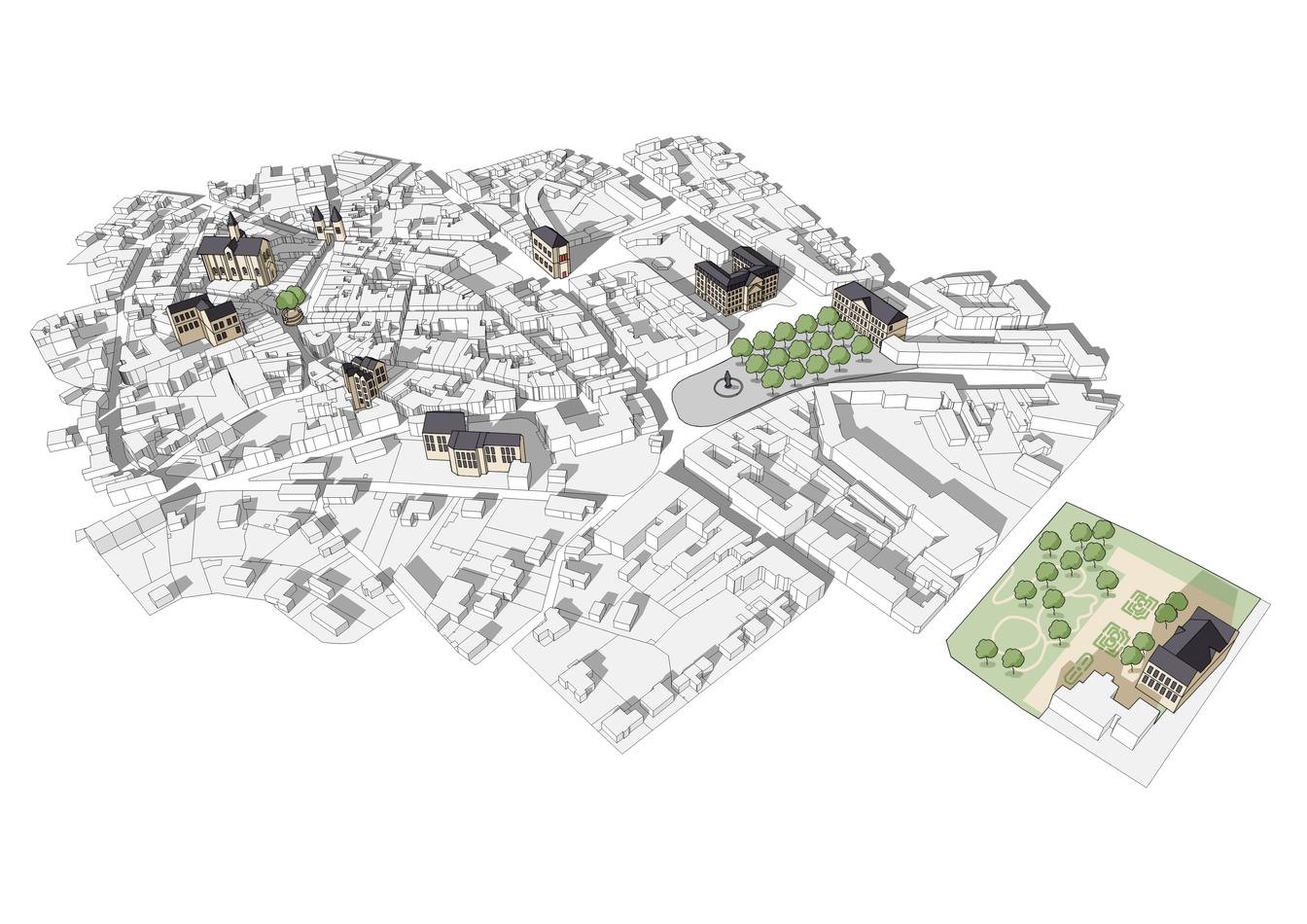 Plan schématique d'une ville