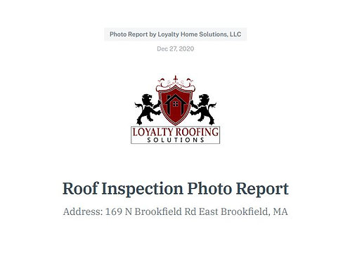 McLean-Rowe Roof Inspection Report