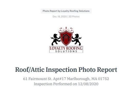 Cavalcanti -Marlborough Roof Inspection Report