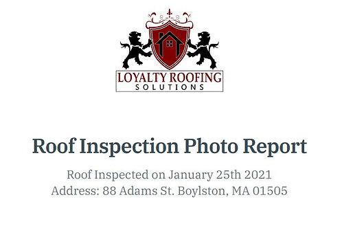 Roof Inspection Report - Zayaruzny Residence