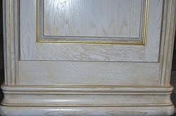 Белый дуб + золотая патина